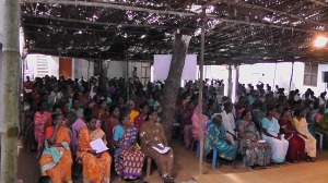 600 people gathered for prayer and recollection in India.