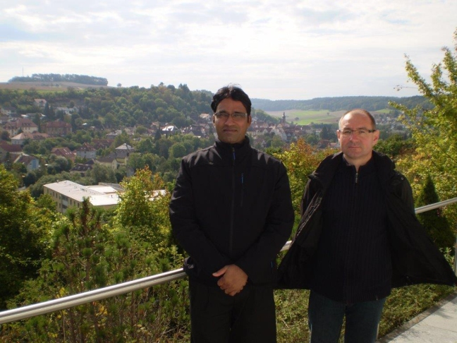 Fr. Rocky and Fr. Baniak overlook Boxberg